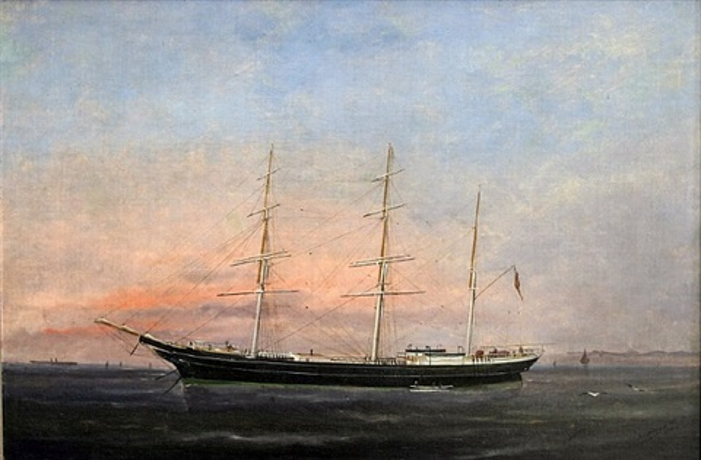 the blackwall frigate alumbagh at anchor by édouard adam