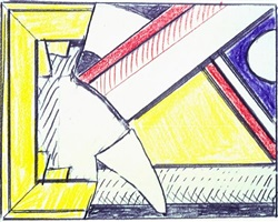 study for stretcher and modern painting by roy lichtenstein