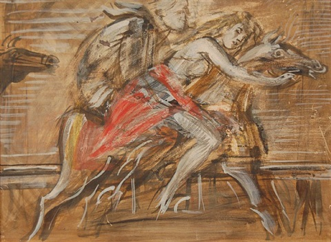 untitled (double-sided) by reginald marsh