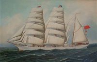 the british barque east african by antonio jacobsen