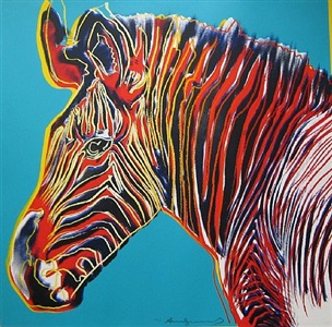 grevy's zebra (from the endangered species portfolio) f&s ii. 300 by andy warhol