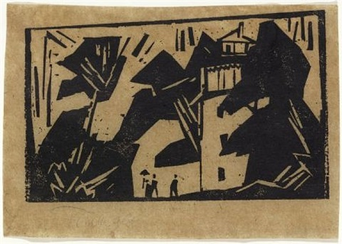 im park / in the park by lyonel feininger