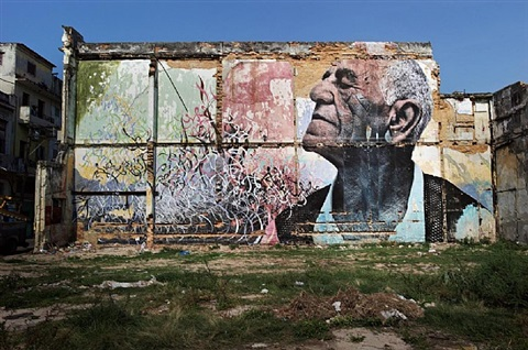 the wrinkles of the city, havana cuba</br>felix rivera ramirez by jr and josé parla