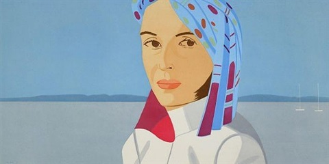 ada with blue hat by alex katz