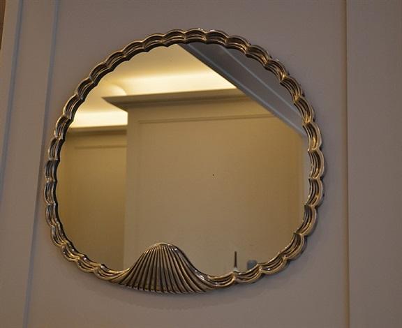 miroir en cuivre argenté by andré groult