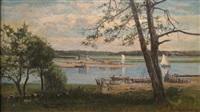 boats on an inlet, newburyport mass. 1878 by frank henry shapleigh