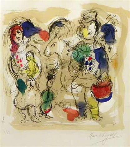 petite paysans i by marc chagall