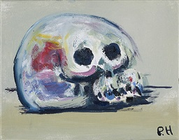 rainbow skull by paul housley