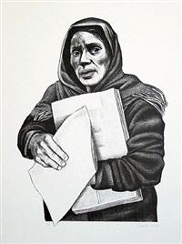 vendedora de periodicos by elizabeth catlett