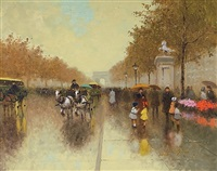 parisian boulevard in the rain by andré gisson
