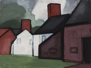 untitled by oscar florianus bluemner