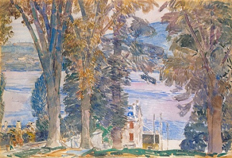 newburgh, ny by childe hassam