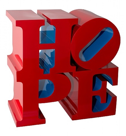 hope (red/blue) by robert indiana