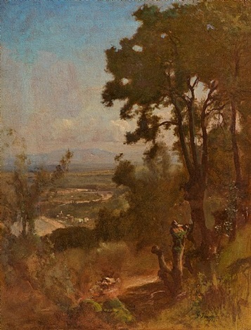 valley near perugia by george inness