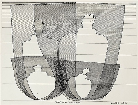 selbstbild als löcherquartett (self portrait as quartet of wholes) by dieter roth