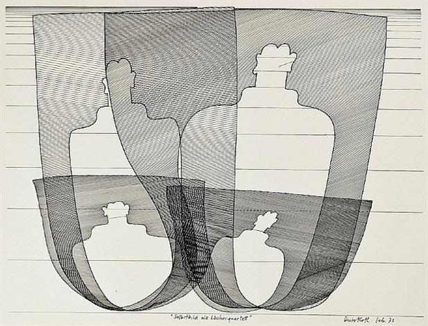 selbstbild als löcherquartett (self portrait as quartet of wholes) by dieter roth