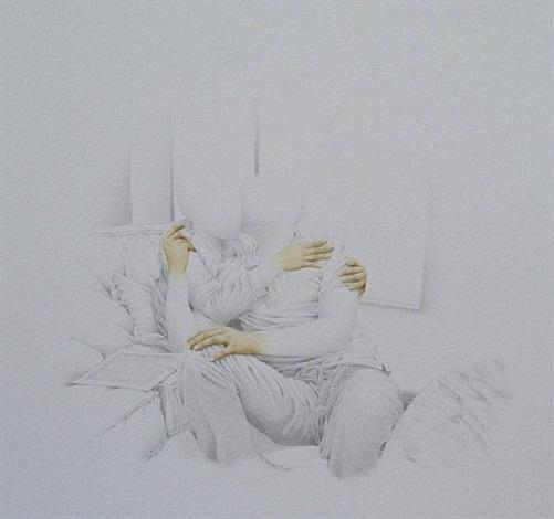 retrato con manos pintadas - pareja by mauro piva