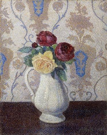 fleurs, trois roses by albert dubois-pillet