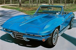 blue corvette by cheryl kelley