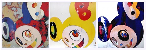and then and then gargle glop and then lemon pepper and then hello 3 works by takashi murakami