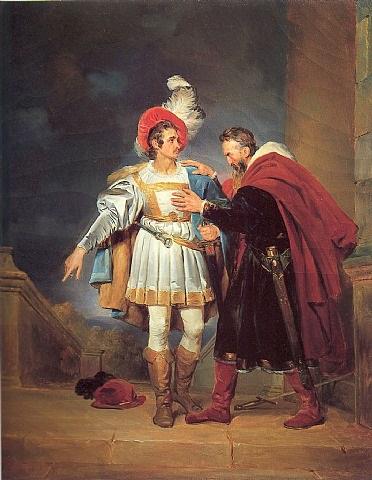 """rodrigo de bivar """"el cid"""" and his father, don diego by alexandre-évariste fragonard"""