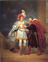 "rodrigo de bivar ""el cid"" and his father, don diego by alexandre-évariste fragonard"