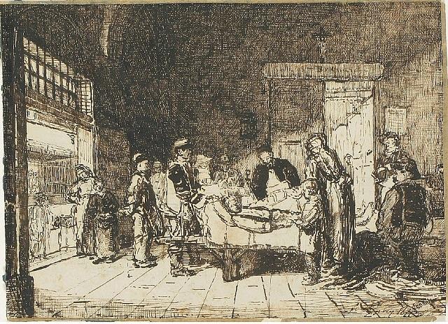 study for le couvreur tombé by françois bonvin