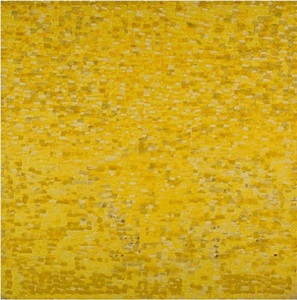 yellow painting #7 by shirley goldfarb