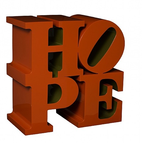 hope (red/gold) by robert indiana