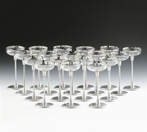 eighteen liqueur glasses by otto wagner