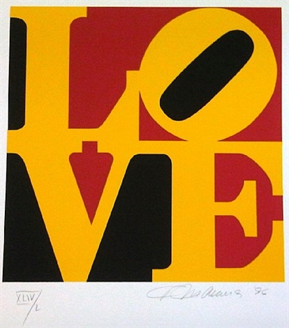 book of love (german love) by robert indiana