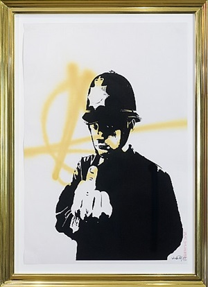 rude copper (anarchy) by banksy