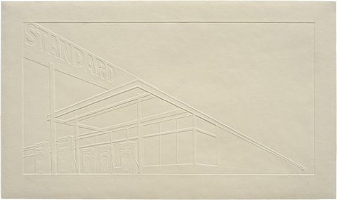ghost station by ed ruscha