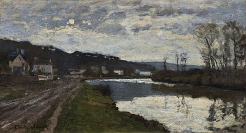 la seine à bougival by claude monet