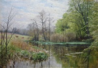 spring at a stream by peder mork mönsted