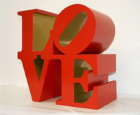 love (red/gold) by robert indiana