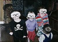 skeleton mask by ishbel myerscough
