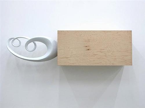 untitled (18 x 38 in. rectangular monochrome) by piero golia