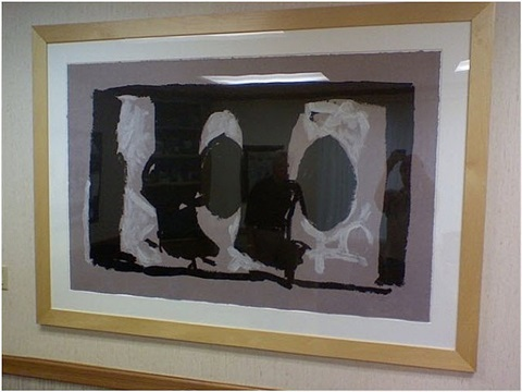 elegy study 1 by robert motherwell