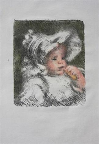 enfant au biscuit by pierre-auguste renoir