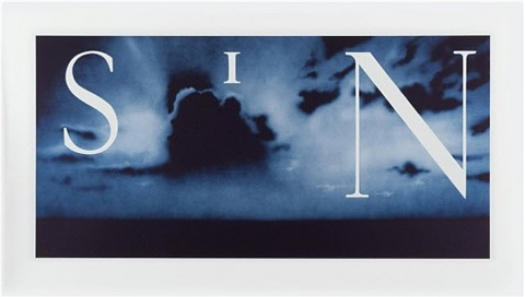 sin-without (blue ctp) by ed ruscha