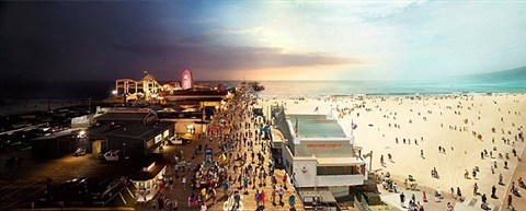 santa monica pier by stephen wilkes
