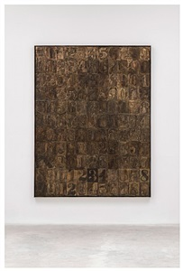 jasper johns numbers, 0-9, and 5 postcards by jasper johns