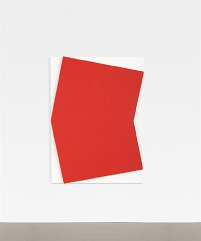 red relief over white by ellsworth kelly