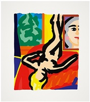 nude with picasso by tom wesselmann