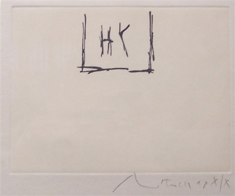 phoenician etching by robert motherwell