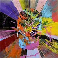 beautiful apocatequil narcissism painting by damien hirst