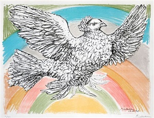 colombe volant (flying dove) by pablo picasso