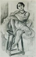 dix danseuses: danseuse au tabouret (ten dancers: dancer  on a stool) by henri matisse
