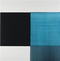 exposed painting manganese blue by callum innes